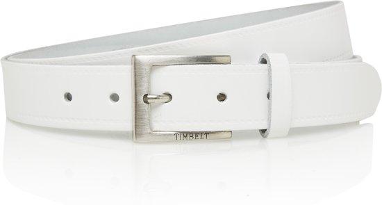 Echt lederen witte Timbelt riem 3 cm - Maat 95