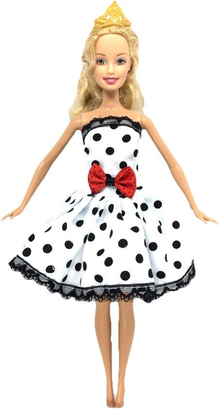 Barbie kleding set - 6x outfit voor modepop met jurken, rok en shirt