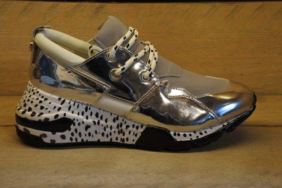 8e00ab44161 Steve Madden Cliff Dames Sneaker - Silver - Maat 39