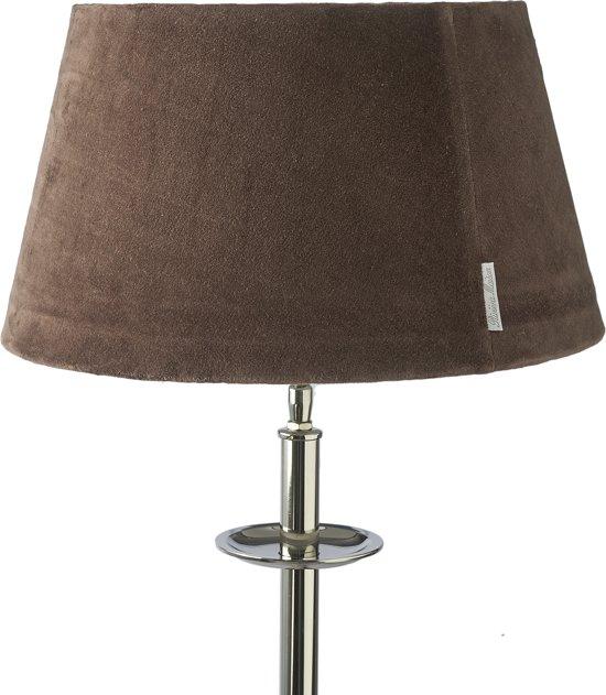 Rivièra Maison RM Velvet Lamp shade Café Noir - Lampenkap - 28 x 38 cm - Bruin - Wol