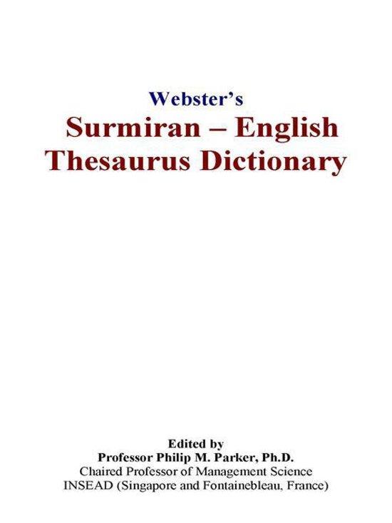 Webster's Surmiran - English Thesaurus Dictionary