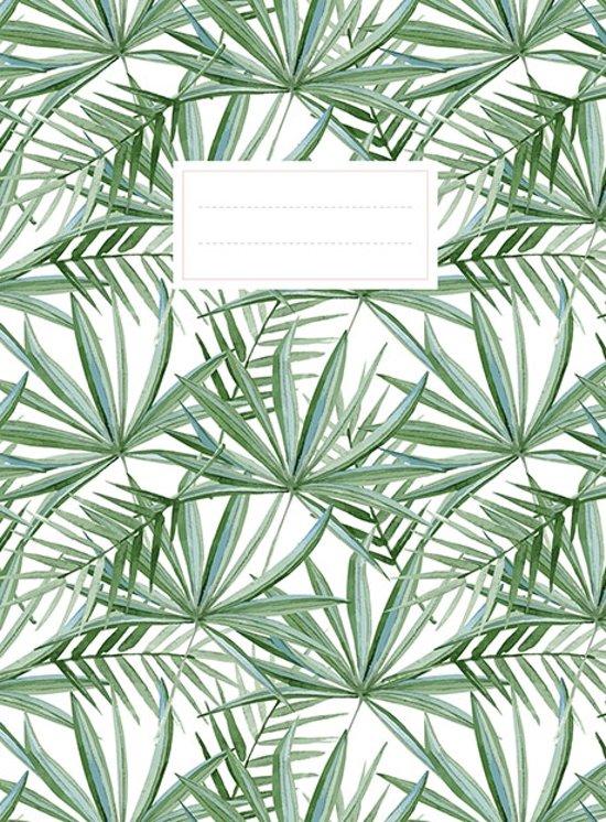 Leaves schrift (lijnen) / leaves cahier (ligné)