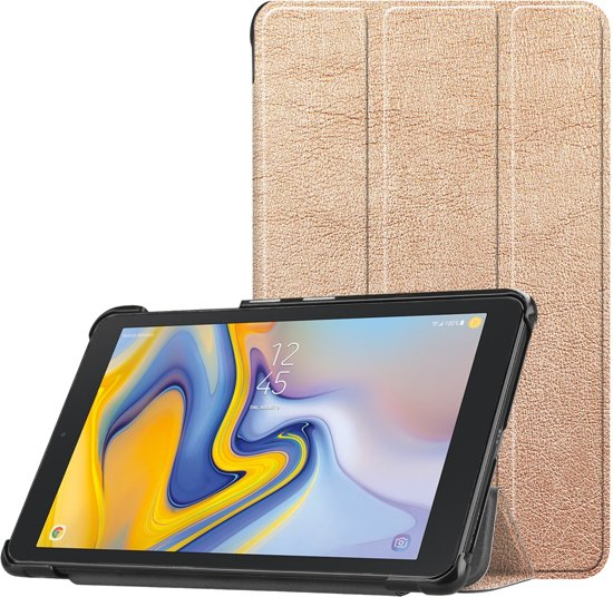 3-Vouw sleepcover hoes - Samsung Galaxy Tab A 8.0 inch (2019) - Rose Goud
