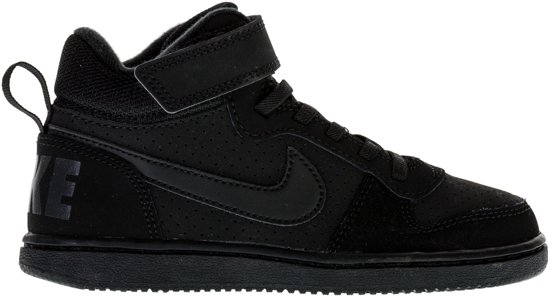 Nike Court Borough Mid Sneakers Kids Sneakers - Maat 28.5 - Unisex - zwart