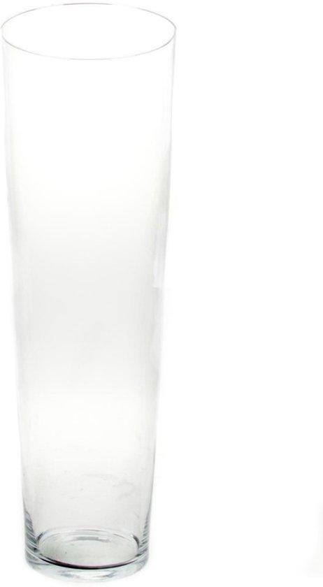 Grote Vaas Glas.Conische Vaas Glas 50 Cm