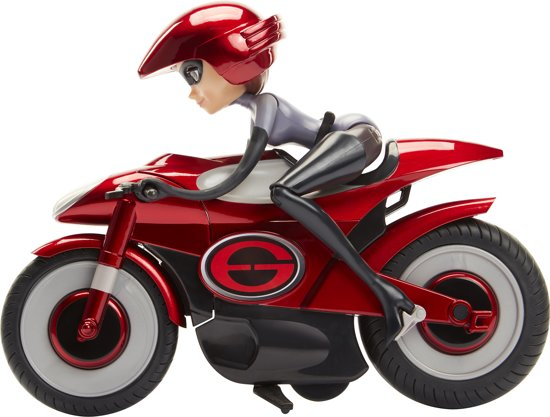 Incredibles 2: Elastigirl op fiets - 28 cm - Speelfiguur