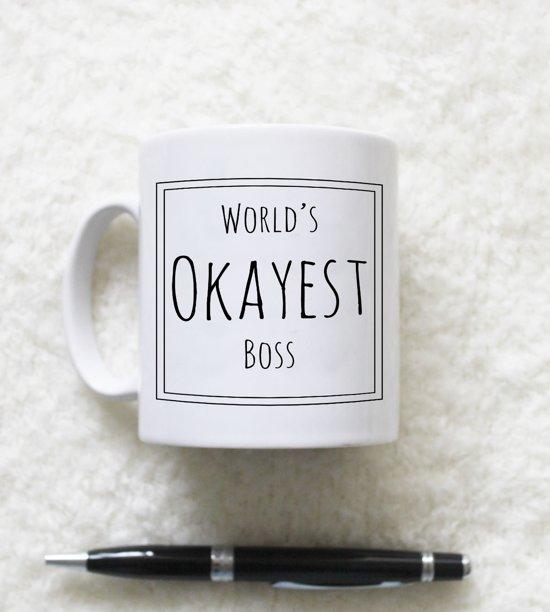Bolcom Worlds Okayest Boss Mok Geweldig Cadeau Voor Je Baas