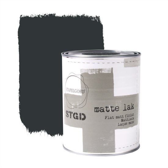 Stapelgoed - Matte Lak - Navy black - Zwart - 1L