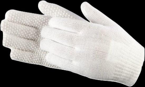 Paardrijhandschoen Grippy Wit