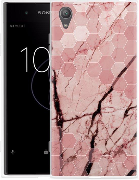 Sony Xperia XA1 Plus Hoesje Pink Marble