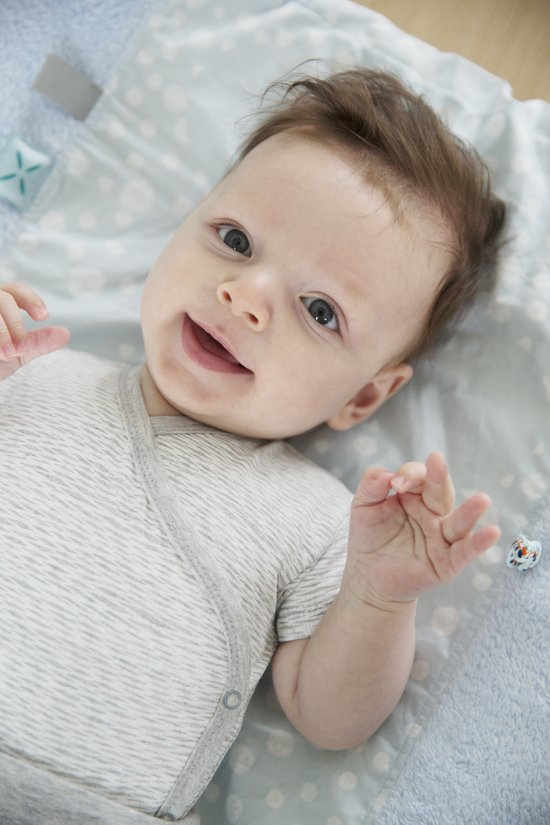 Snoozebaby Aankleedkussenhoes Happy Dressing (45 x 70cm) blauw