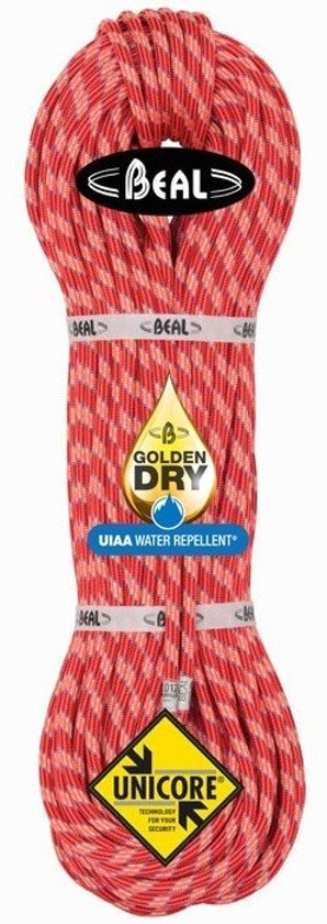 Beal Ice Line 8.1 Golden Dry Unicore lichtgewicht dubbeltouw 70 Meter Blauw