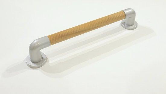 Badgreep - hout look - luxe uitstraling - 45.7 cm lang - buisdikte 35 mm