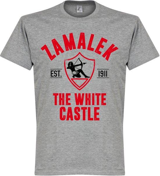 Zamalek Established T-Shirt - Grijs - XL