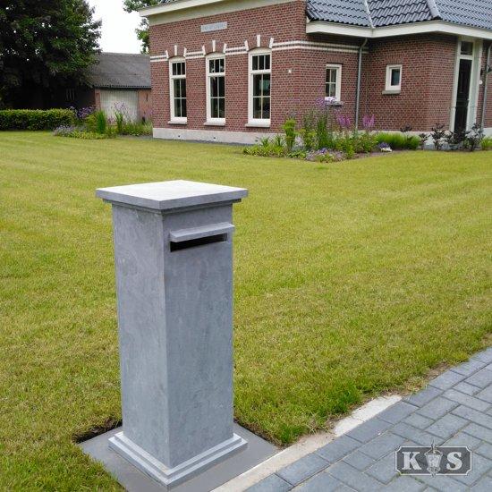 Hardsteen Pilaar  Brievenbus II Set
