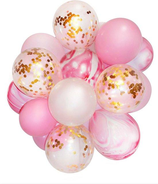 bol | 20 confetti ballonnen roze | ideaal voor baby shower of