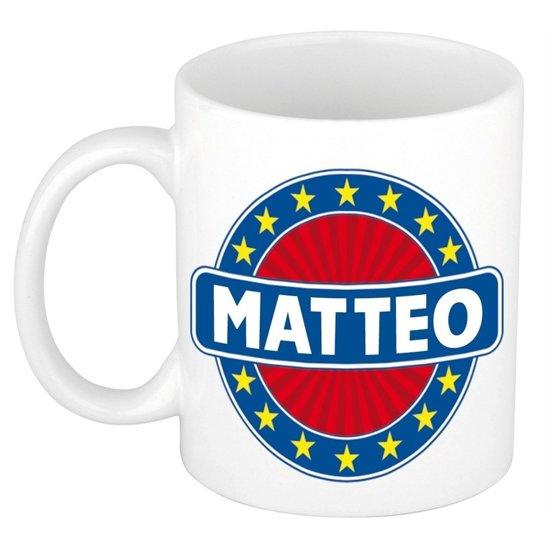 Matteo  naam koffie mok / beker 300 ml  - namen mokken