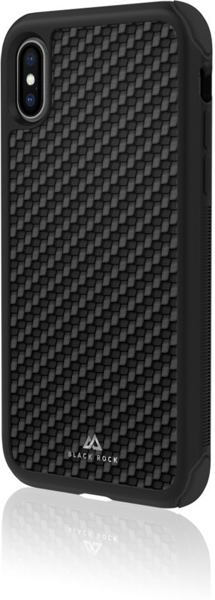 Black Rock Real Carbon Backcover iPhone X / Xs hoesje - Zwart