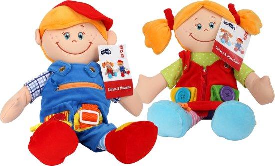 Legler Poppen Stoffen poppen met leerfunctie, set van 2