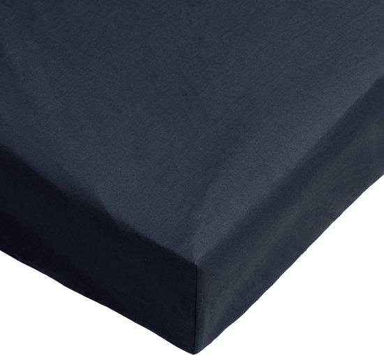 Day Dream Hoeslaken Katoen Donker Blauw-160 x 200 cm