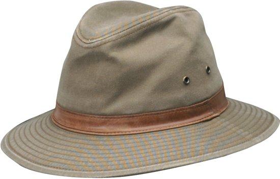 Dorfman Pacific UV beschermende Fedora Hoed Heren - Bruin - Maat L (59cm)