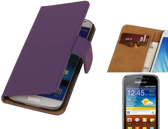 MP Case Bookstyle Hoes voor Galaxy mini 2 S6500 Paars in Odiliapeel