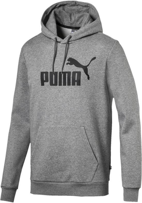 d9b45b2c98e PUMA ESS Hoody FL Big Logo Trui Heren - Medium Gray Heather