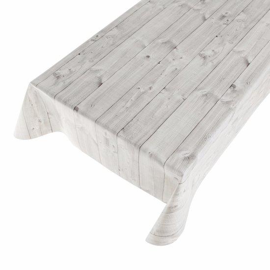 Geliefde bol.com | Buiten tafelkleed zeil hout grijs 140 x 240 cm - tafelzeil DF32