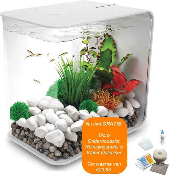 biOrb Flow Aquarium - 31x42x53 cm - 30L - Wit