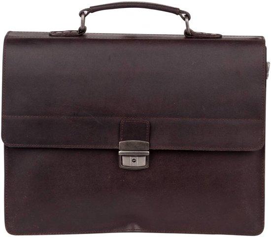 BURKELY Vintage Dean Briefcase Aktetas - Bruin