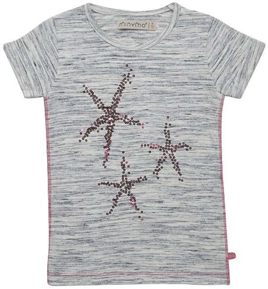 Minymo meisjes t-shirt - light blue melange