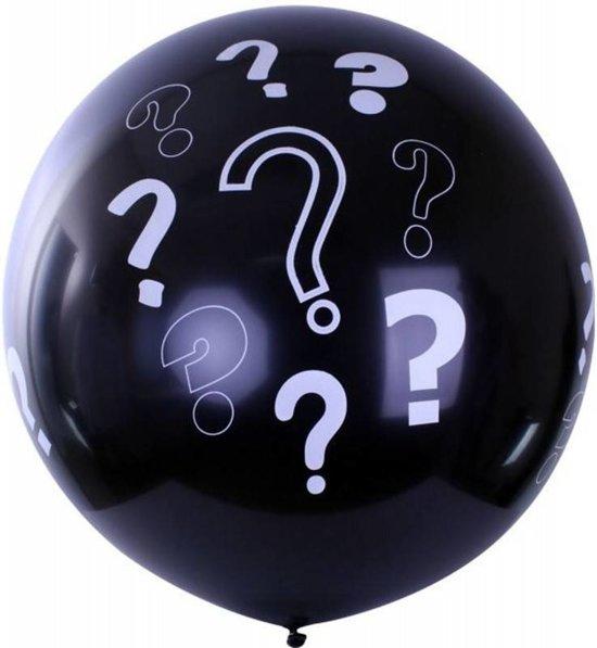 Partyxplosion - Gender reveal ballon - Vraagtekens - 90cm Valentinaa