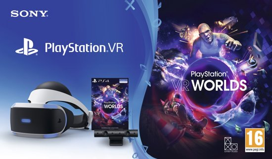 Sony PlayStation VR (V2) Worlds Pakket + camera