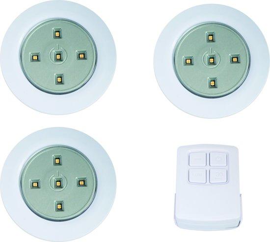 bol.com | Shada LED spotjes op AA batterijen met afstandsbediening ...