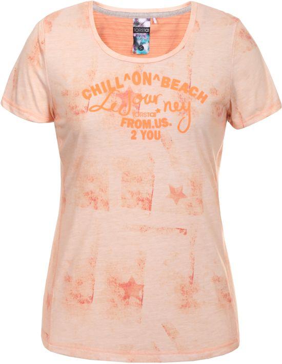 Torstai Oranje shirt T Maat L Dames Amanda FwrF7B