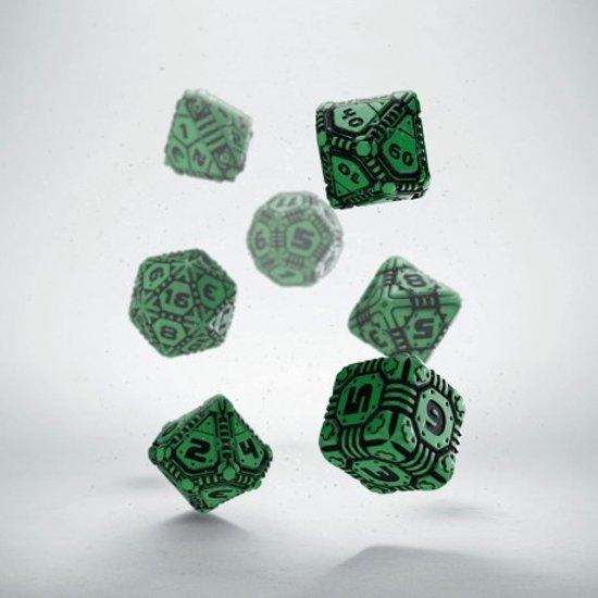 Afbeelding van het spel 10 Vlakken Tienzijdige Dobbelstenen Ivoor met Zwart 16mm Set van 6 Stuks