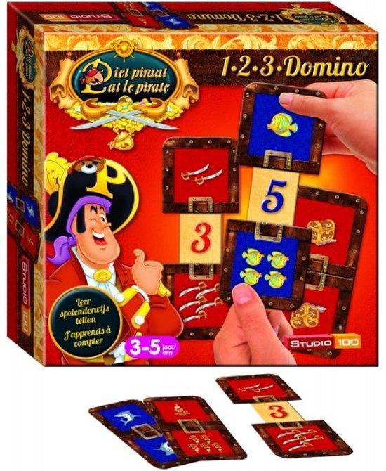 Afbeelding van het spel Piet Piraat Spel 1-2-3 Domino - Kinderspel