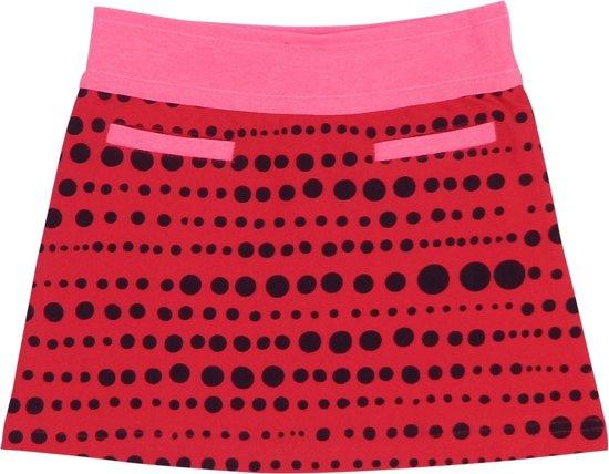 Happy Nr. 1-meisjes-rok-dots, gestipt-kleur: roze, antraciet-maat 104