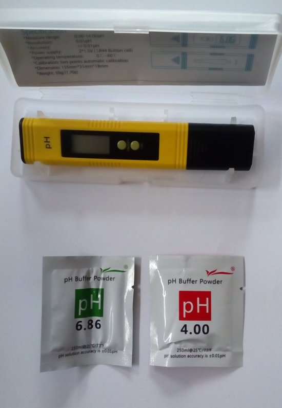 Digitale PH Meter LCD Model met opbergbox!
