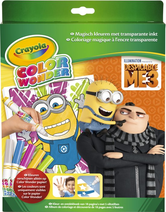 Crayola Color Wonder box set Despicable Me 3 Kleurboek incl. 5 Stiften