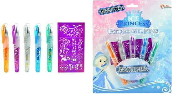 Ice Princess Tattoo Gel Glitter pennen