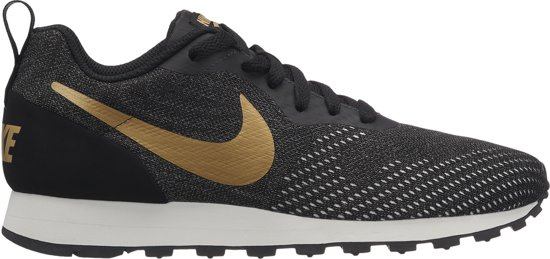 new products cc38e 2c9c5 Nike Md Runner 2 Eng Mesh Sneakers Dames - BlackMtlc Gold-Dk Grey