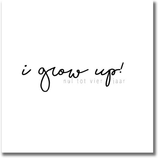 Afbeelding van I grow up! | 0-4 jaar invulboek | Zwart/wit speelgoed