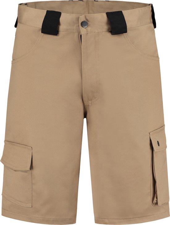 Yoworkwear Bermuda katoen/polyester kaki maat 56