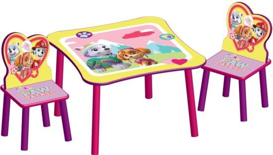 Baby Tafel Stoel.Paw Patrol Girl Tt89578pw Tafel Met 2 Stoelen