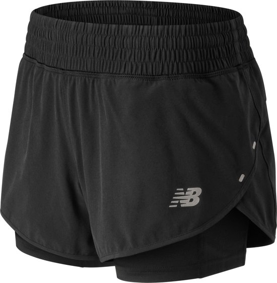 New Balance Impact Short 4 In Dames Sportbroek - Black - Maat S