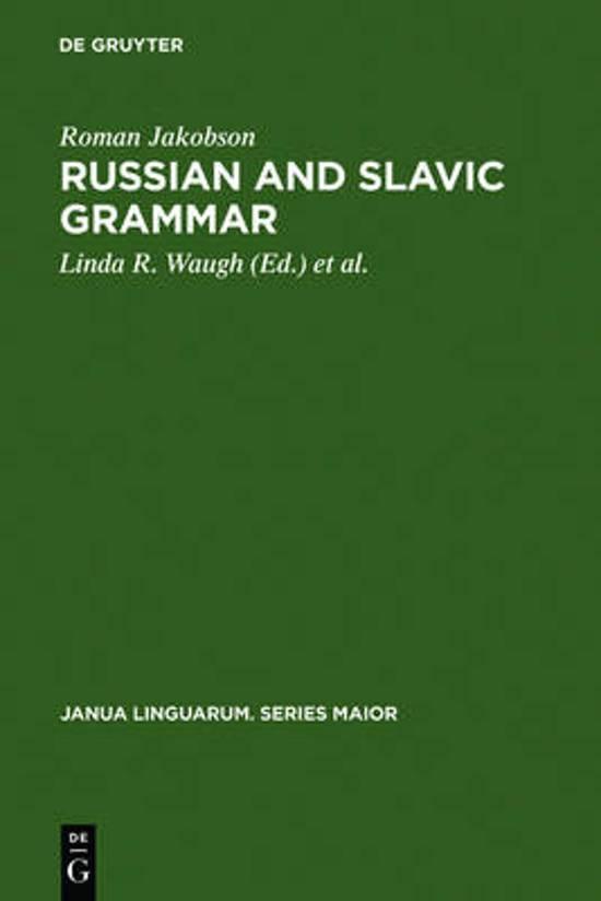 Russian and Slavic Grammar