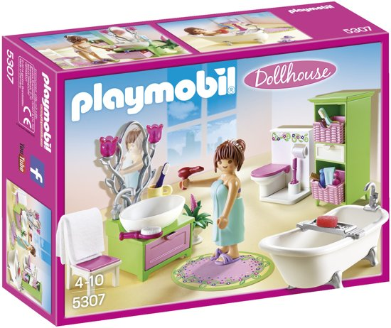 bol.com | PLAYMOBIL Badkamer met bad op pootjes - 5307, PLAYMOBIL ...