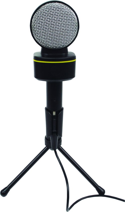 Microfoon met volumeregeling en 3.5mm jack aansluiting