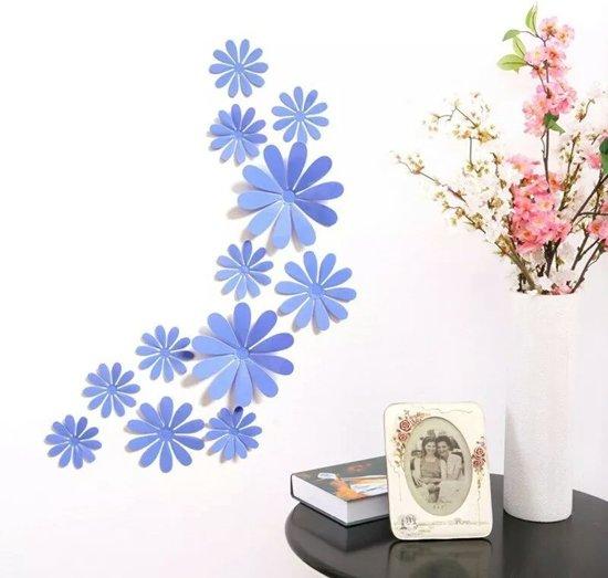bol.com   3D Bloemen Blauw (12 Stuks) - Muursticker / Muurdecoratie ...